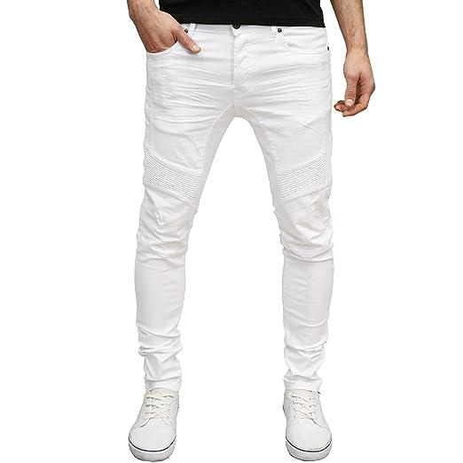 6b2723e4322f Enzo Mens Designer Branded Stretch Skinny Fit Ripped Distressed Biker Jeans  (30W x 30L,
