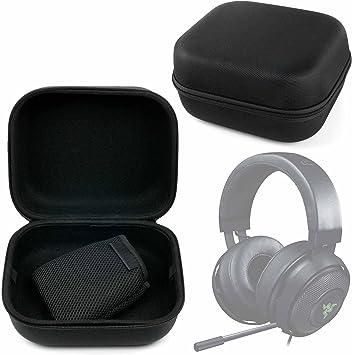 DURAGADGET Estuche Rígido Negro para Auriculares Sennheiser HD 471G, HD 471i / Pyle PGPHONE80, Pro PHPDJ1, Sound 7 / Razer Kraken 7.1 V2, Kraken Pro V2: Amazon.es: Electrónica