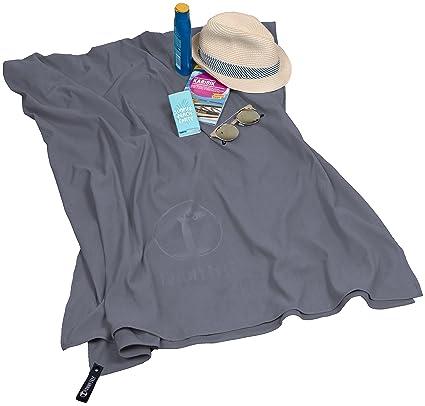 Funny Tree® toalla de playa de microfibra de secado ultra rápido y antibacteriano XXL 100x200