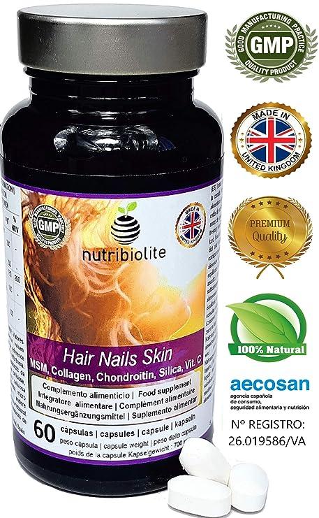 Hair Nails Skin | Cabello Piel y Uñas, Potente Tratamiento Anticaída de Cabello, Activador del Crecimiento del Cabello Rápido, Fortalecedor de Uñas, ...