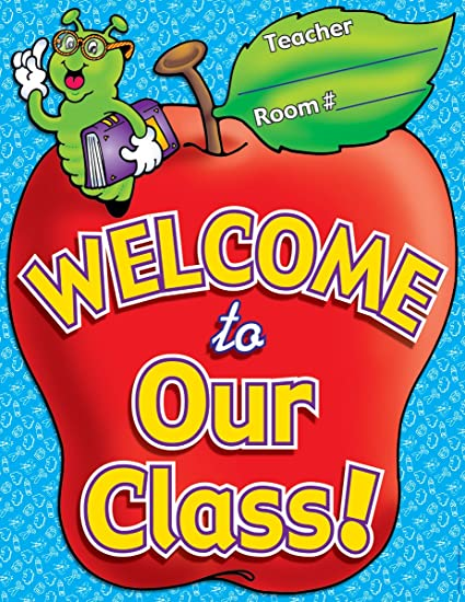Amazon Com Scholastic Welcome To Our Class Chart Tf2185 Themed