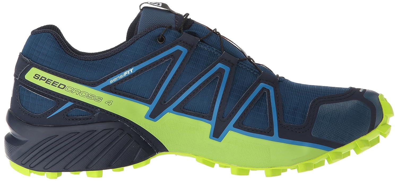 Salomon Men's Trail Running Shoe, PoseidonNavy BlazerLime