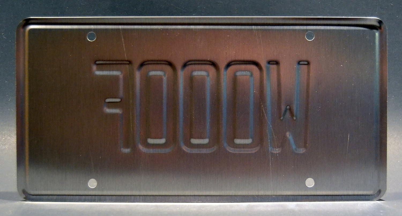 Mutt Cutts Van Celebrity Machines Dumb and Dumber Metal Stamped Vanity Prop License Plate WOOOF