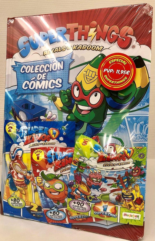 Sobrecitos con figuritas Libro del Coleccionista de C/ómics Superthings