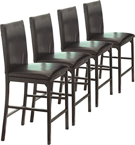 Homelegance Tempe PU Upholstered Counter Height Chair Set of 4