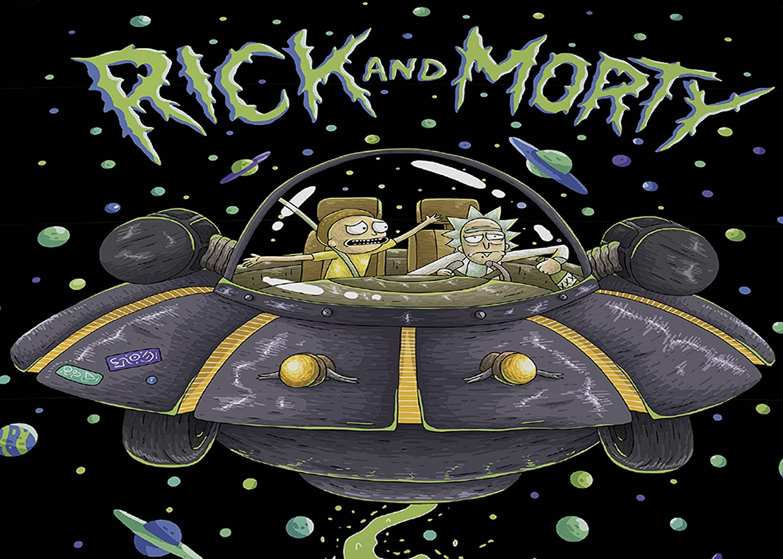 Multicolor Juego de Funda de edred/ón algod/ón Rick and Morty UFO Doble poli/éster
