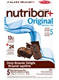 Nutribar Original Nutribar+ Original Meal Replacement Bars, Deep Brownie Delight, 5 Bars 5 count (2757800651)