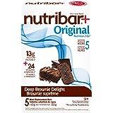 Nutribar Original Nutribar+ Original Meal Replacement Bars, Deep Brownie Delight, 5 Bars 5 count (2757800651)