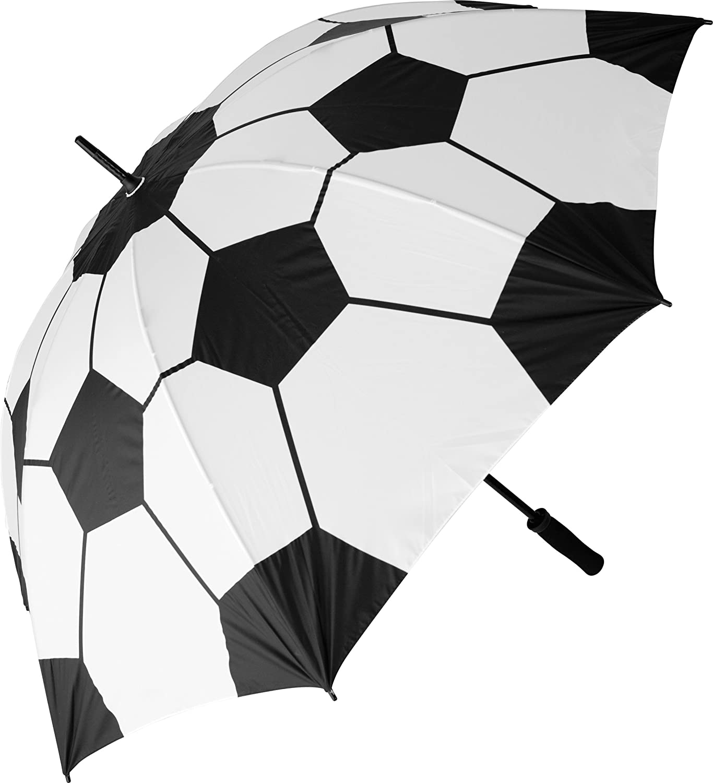 Custom Soccer ball Football Compact Travel Windproof Rainproof Foldable Umbrella