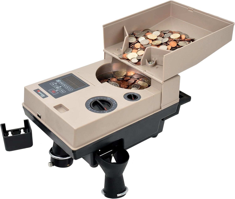Cassida Compact & Portable Coin Counter/Off-Sorter (C500), Tan/Black