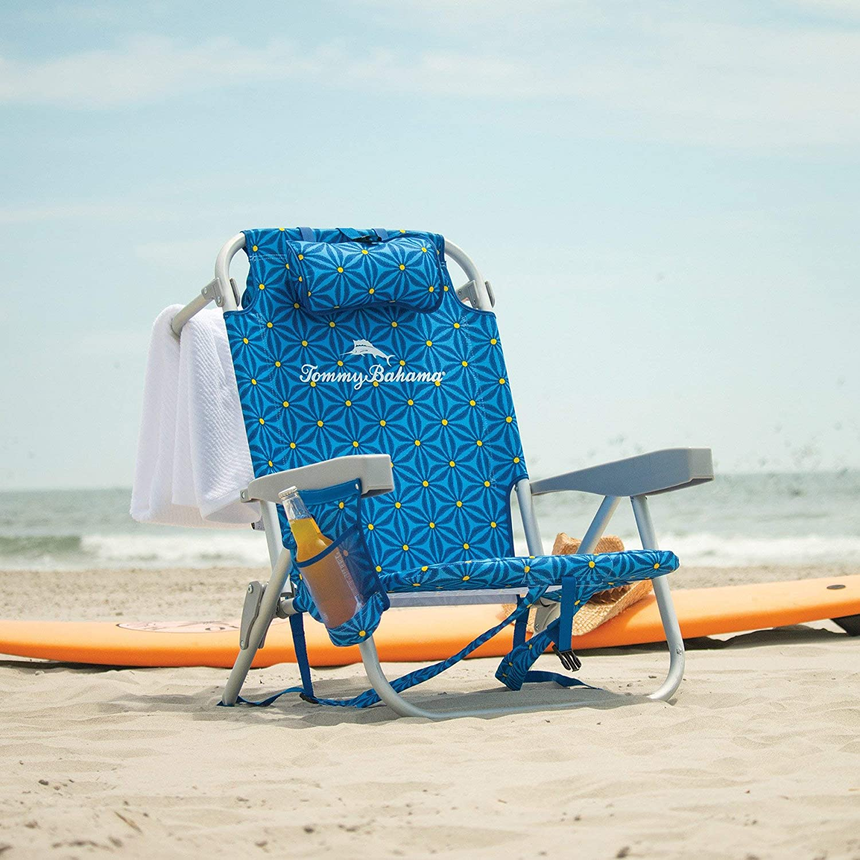TECNOVOZ Silla Playa Plegable Asas Tipo Mochila Tommy Bahamas 2000998 Azul MOSAICOS