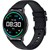 YAMAY Smart Watch Compatible iPhone and Android Phones Swimming Waterproof, Watches for Men Women Round Smartwatch Fitness Tr