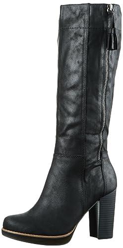 s.Oliver Damen 25503 Langschaft Stiefel, Schwarz (Black 1), 36 EU