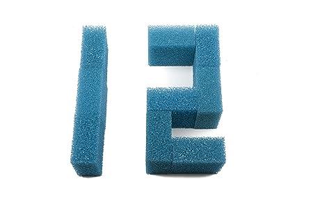 Sin Marca Nueva Estera de esponja de filtro de carb/ón de 12 piezas Pecera media ajusta Juwel Compact