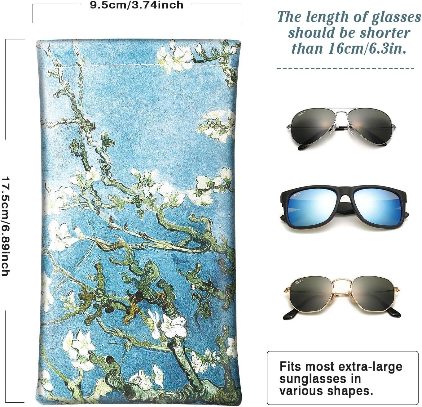 Ultra Lightweight MoKo Brillenetui Neopren Rei/ßverschluss Sonnenbrille Tasche mit G/ürtelclip