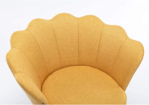 Goujxcy Fabric Swivel Chair Vanity Chair