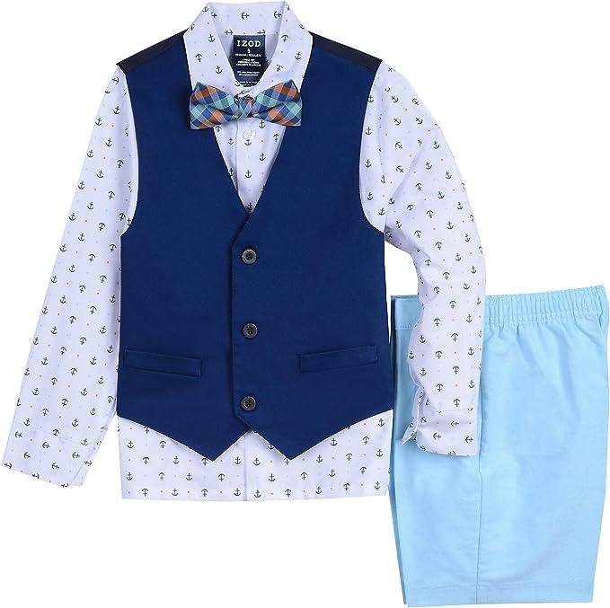 Van Heusen Boys 4-Piece Formal Bow Tie Vest Set Suit