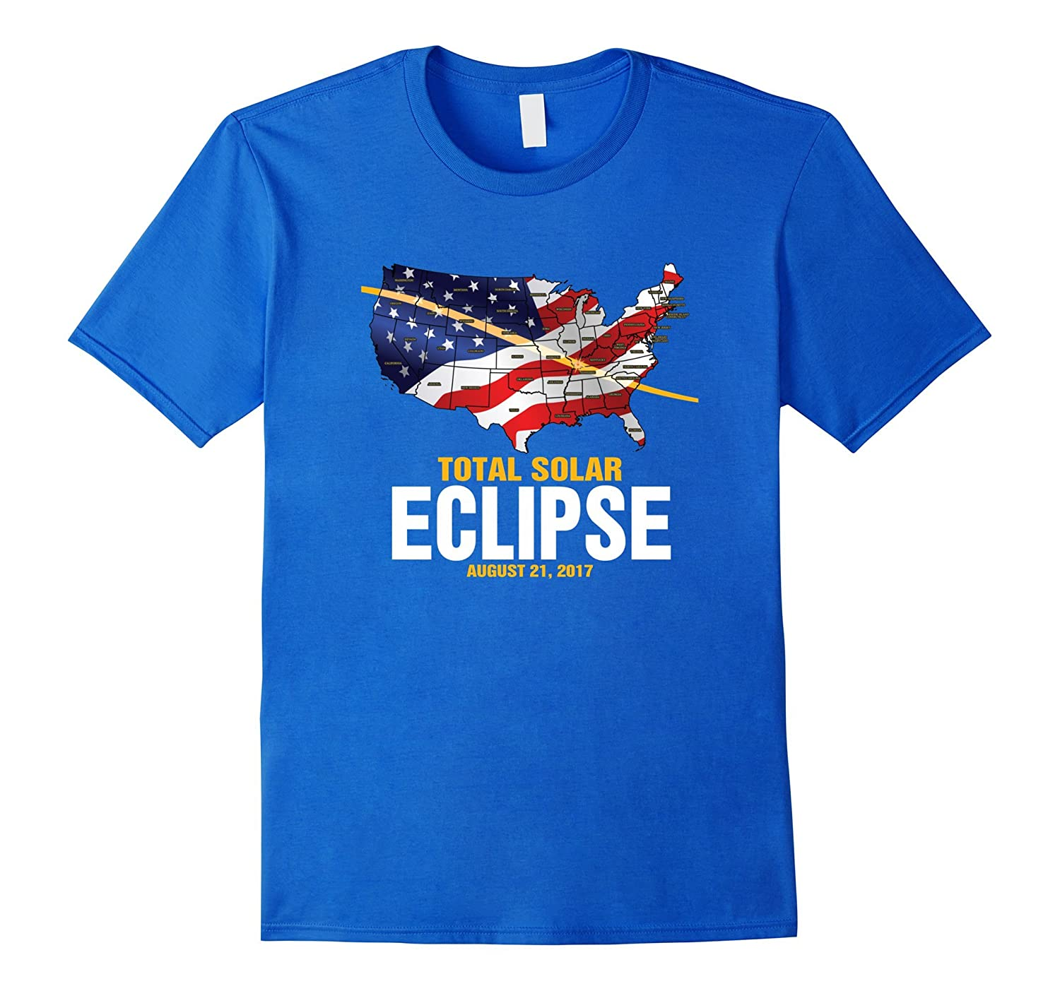 American Flag Total Solar Eclipse August 21 2017 T-Shirt-BN