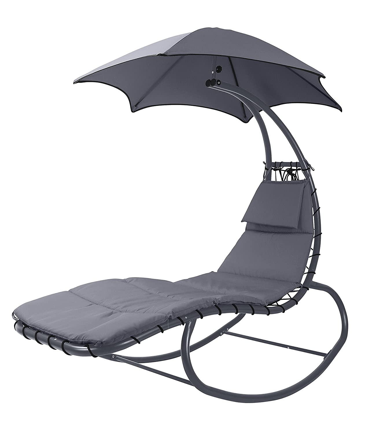 Swing Helicopter Sun Lounger Rocking Chair Seat Sun
