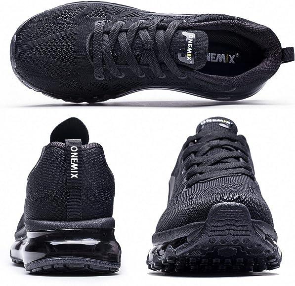 f453ac9fa713 Onemix Uomo Scarpe da Corsa Traspirante Donna Mid-Top Air Cushion Sportive  Running Sneakers Unisex Adulto