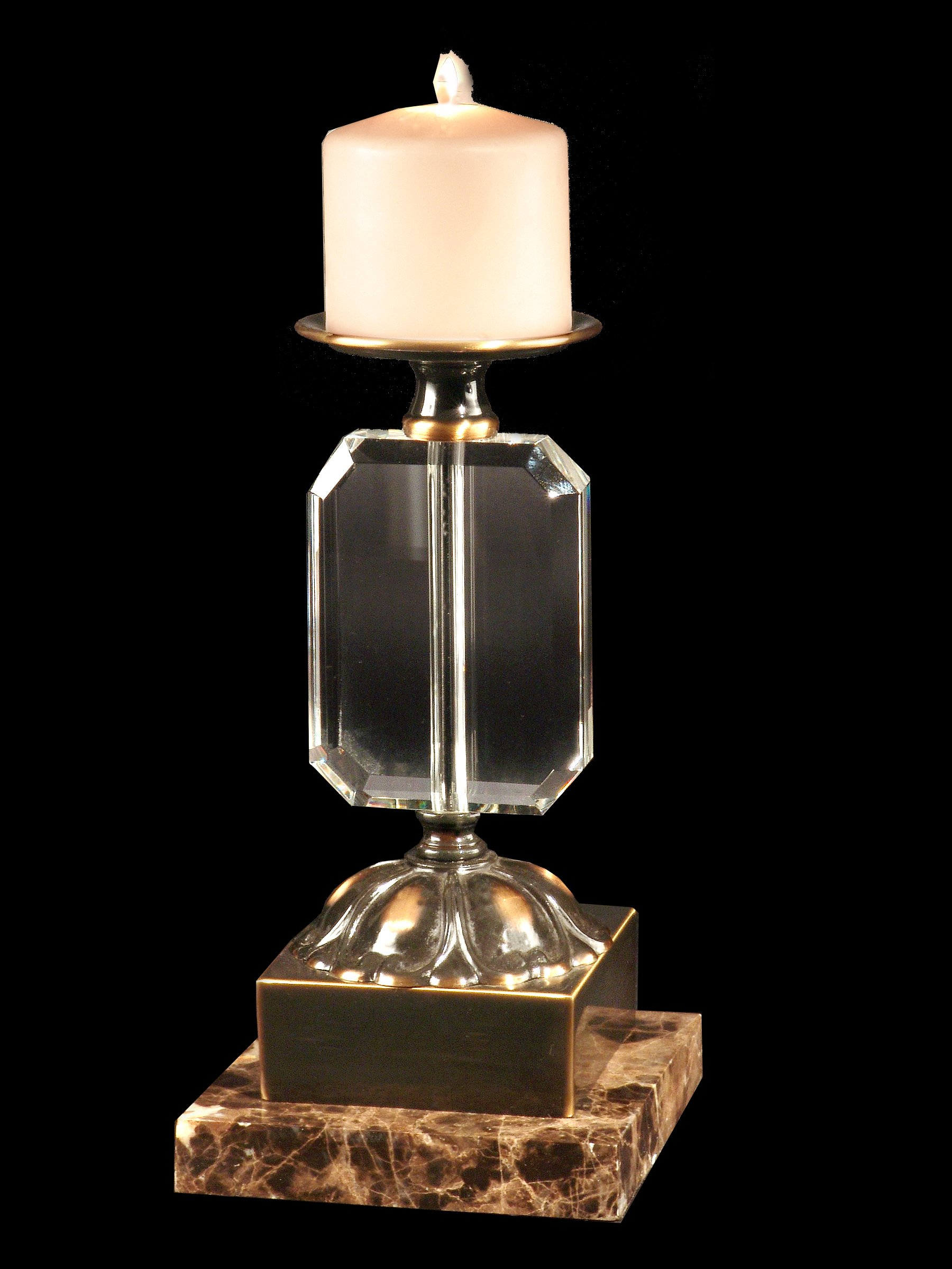 Dale Tiffany GA70067 Florence Decorative Candle Holder with Antique Brass Finish, 3-Inch by 10-1/2-Inch