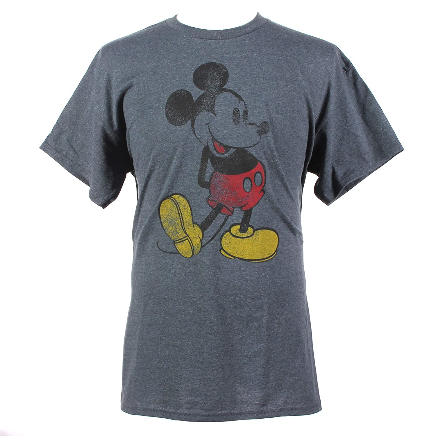 Disney Mickey Mouse Classic Distressed Graphic T-Shirt | Amazon.com