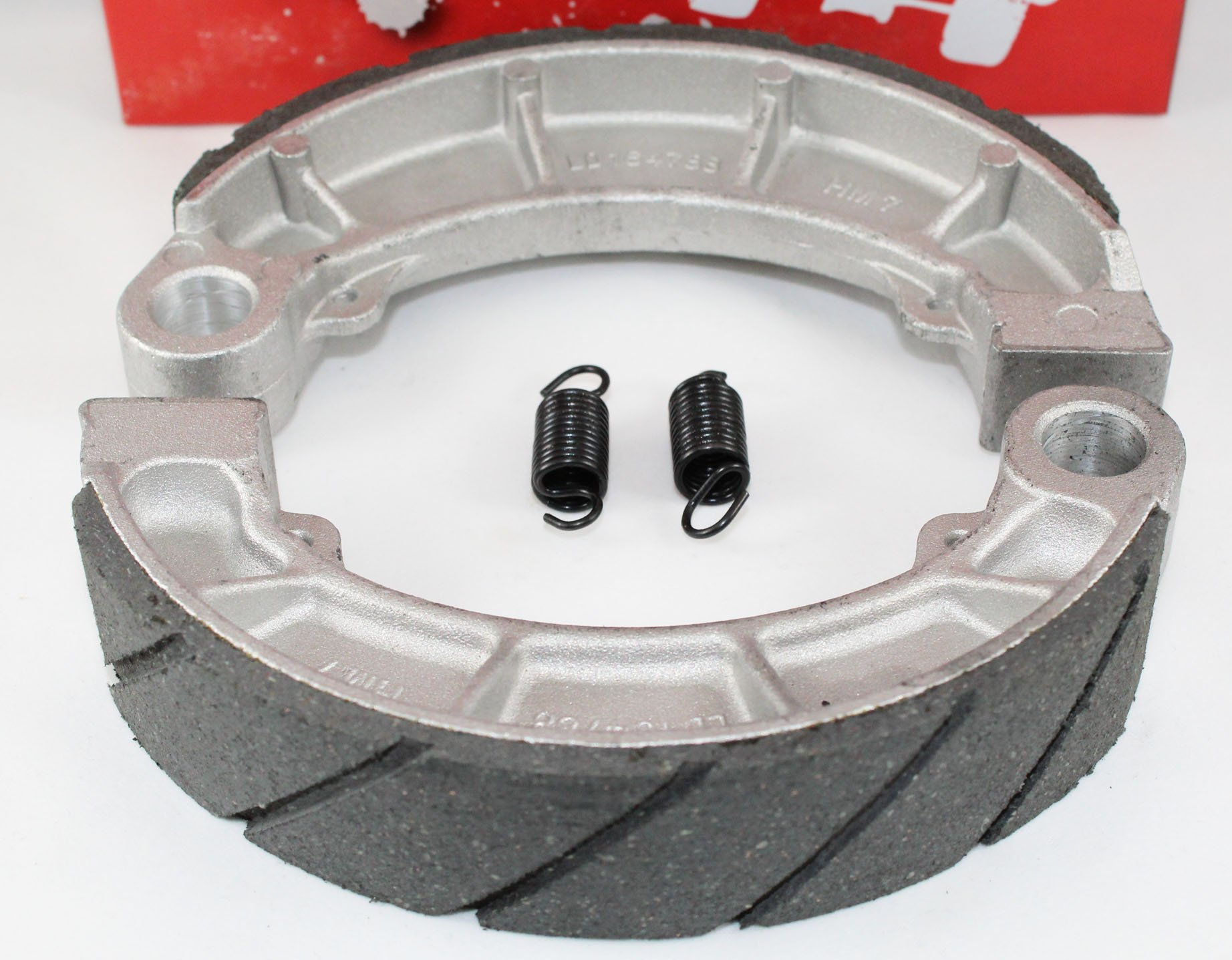 WATER GROOVED Front & Rear Brake Shoes & Springs SET for the Honda 2000-2006 TRX 350 Rancher ATV by Hi-Caliber Powersports Parts (Image #3)