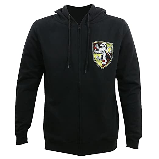 Amazoncom Bioworld Harry Potter House Shield Mens Zip Up Hoodie