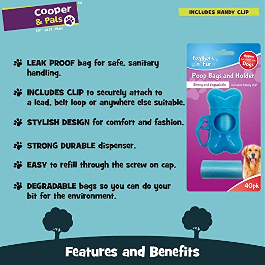 Feathers n Fur Bolsa de Caca Biodegradable Resistente y a Prueba ...