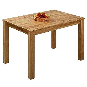 krokwood bonn massivholz esstisch in eiche 110x75x75 cm fsc 100 massiv tisch geolt eichenholz esszimmertisch