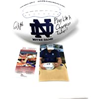 $115 » Quenton Nelson Notre Dame Fighting Irish Signed Autograph Embroidered Logo INSCRIBED Football JSA Certified