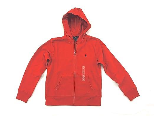 Ralph Lauren - Sweat-Shirt à Capuche - Garçon Rouge Fall Red Medium ... 685533fcc67