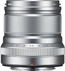Fujifilm Fujinon XF50 mm F2 R WR - Objetivo para Fujifilm con Montura X (Distancia Focal de 50 mm, Apertura f/2-16, autofocus) Plata
