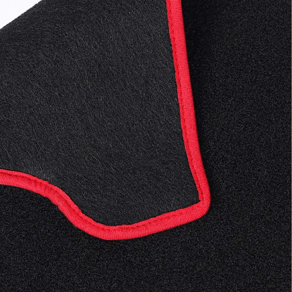 lumi/ère de tapis de tapis de photophobisme de couverture de tableau de bord de voiture /éviter Pad Fit pour 308 2013 Qiilu Couverture de tableau de bord