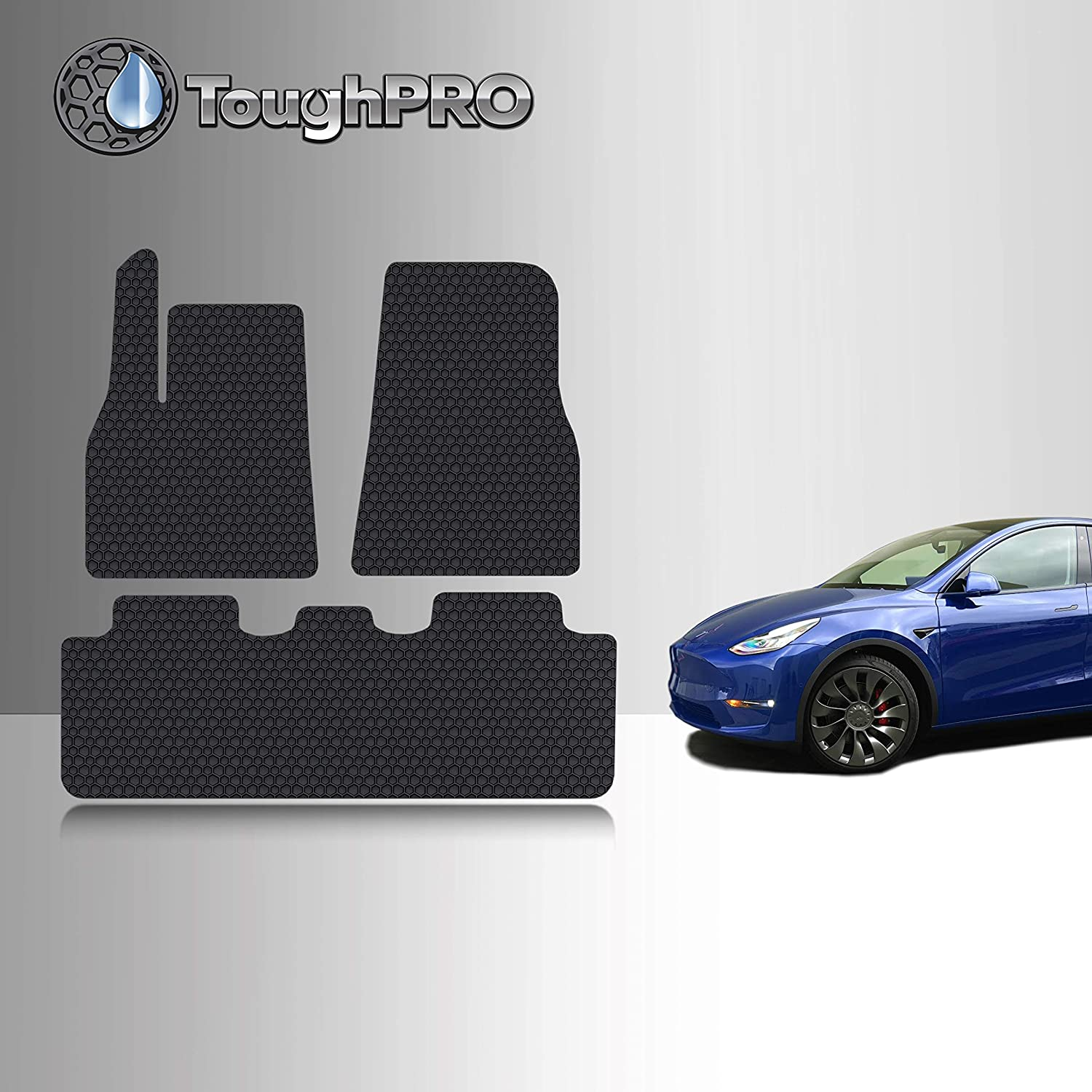 TOUGHPRO Windshield Sun Shade Block UV Rays Compatible with Tesla Model Y Heat Automation 2020 UV Reflector Accessories Custom-Fit