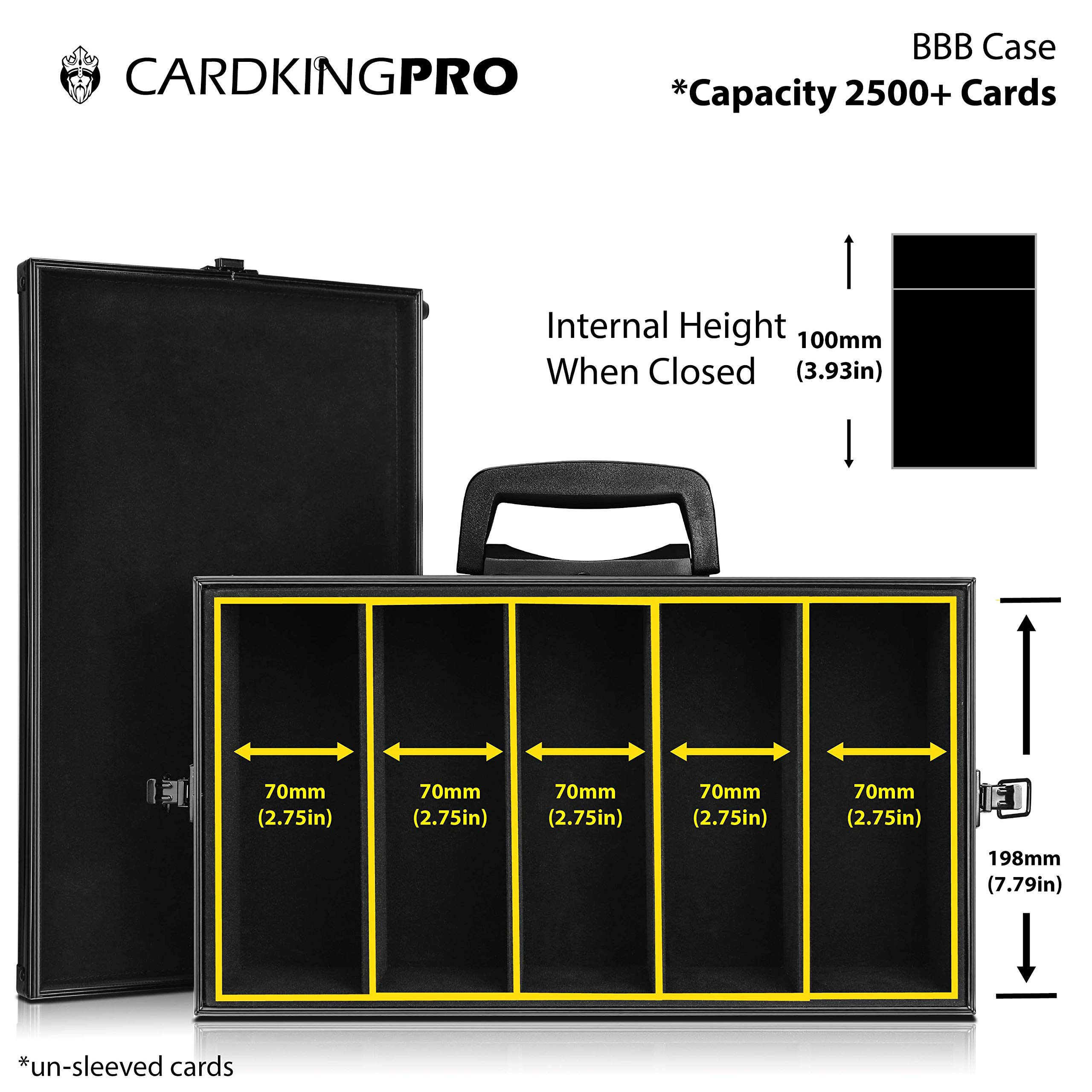 Game Card Storage Case (BBB Edition) | Case is Compatible with Magic The Gathering, MTG, All Standard Card Games (Game Not Included) | Includes 8 Dividers | Fits up to 2500 Loose Unsleeved Cards by CardKingPro (Image #4)