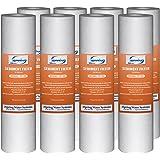 "iSpring 50 micron 10""x2.5"" Universal Sediment Filter Cartridges, 15,000-Gallon, Multi-layer, 8-pack"