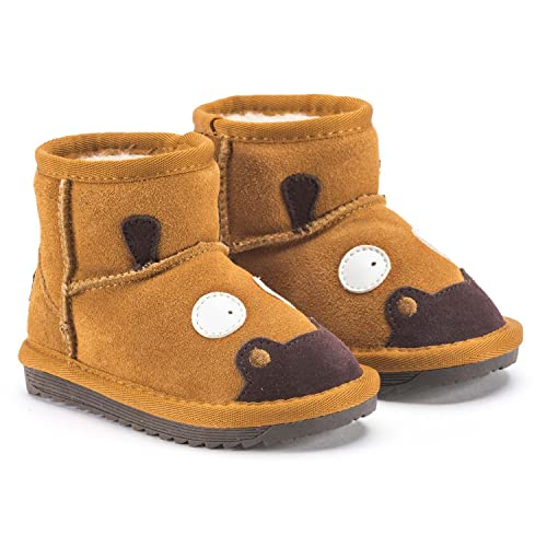 best service 5d497 a1241 Snugs Boots Kinderstiefel aus Lammfell und Wild-Leder Stiefel für Kinder  Jungen und Mädchen Lammfellschuhe