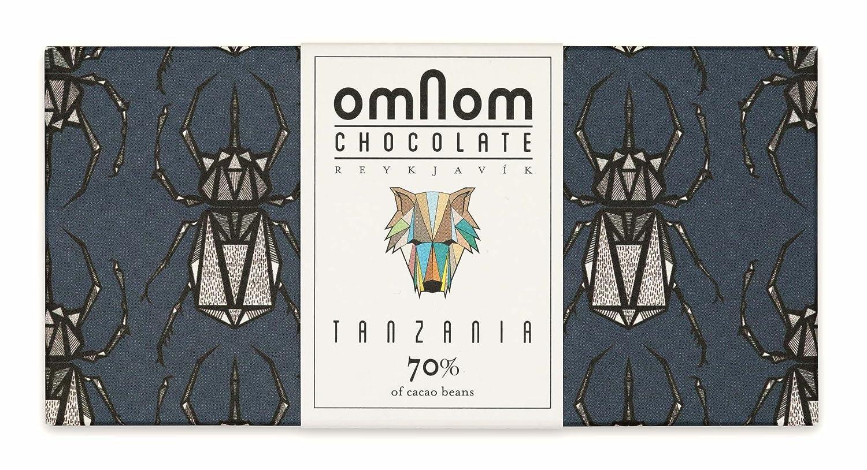 Deliciosa Barra De Chocolate Tanzania 70% Cacao De OMNOM | Chocolate Gourmet Con Sabor Artesanal | Perfecto Como Autocomplacencia O Como Un Regalo De ...