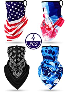 Unisex Triangle Scarf Bandana US Flag Bright Color Earloop Neck Gaiter Face Covering Outdoor Sports E