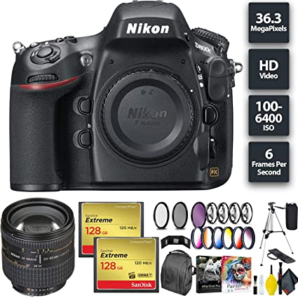 Amazon com : Nikon D800E Digital SLR Camera + 256GB Memory Card +