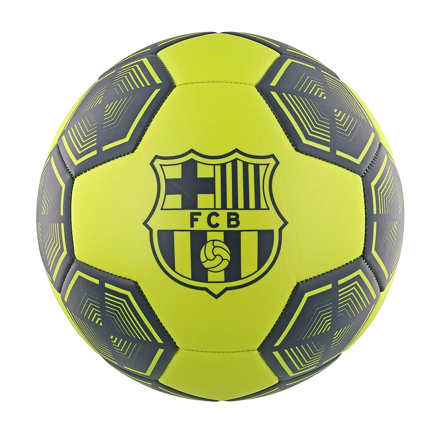 FCB FC Barcelona Neon Yellow - Balón de fútbol, Color Amarillo ...