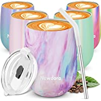 Newdora Reusable Coffee Cup Travel Mug Stainless Steel Double Walled Insulation Mug with Lid for Coffee Cocktail Milk…