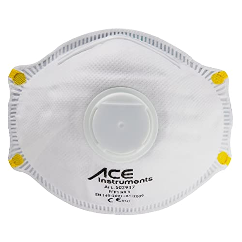 ACE 10 pcs. FFP1 Dust Masks, Protection Against Particles, Smoke, Aerosols and Dust, EN149 - Dust Mask Respirator/Respiratory Protection…