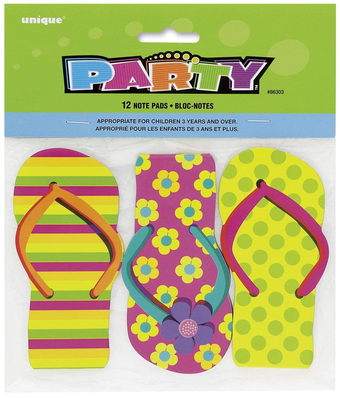 Flip Flop Notepads Party Bag Fillers, Pack of 12 Unique Party 86303