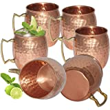 Avs Stores Pure copper hammered cup Moscow Mule Set of 6
