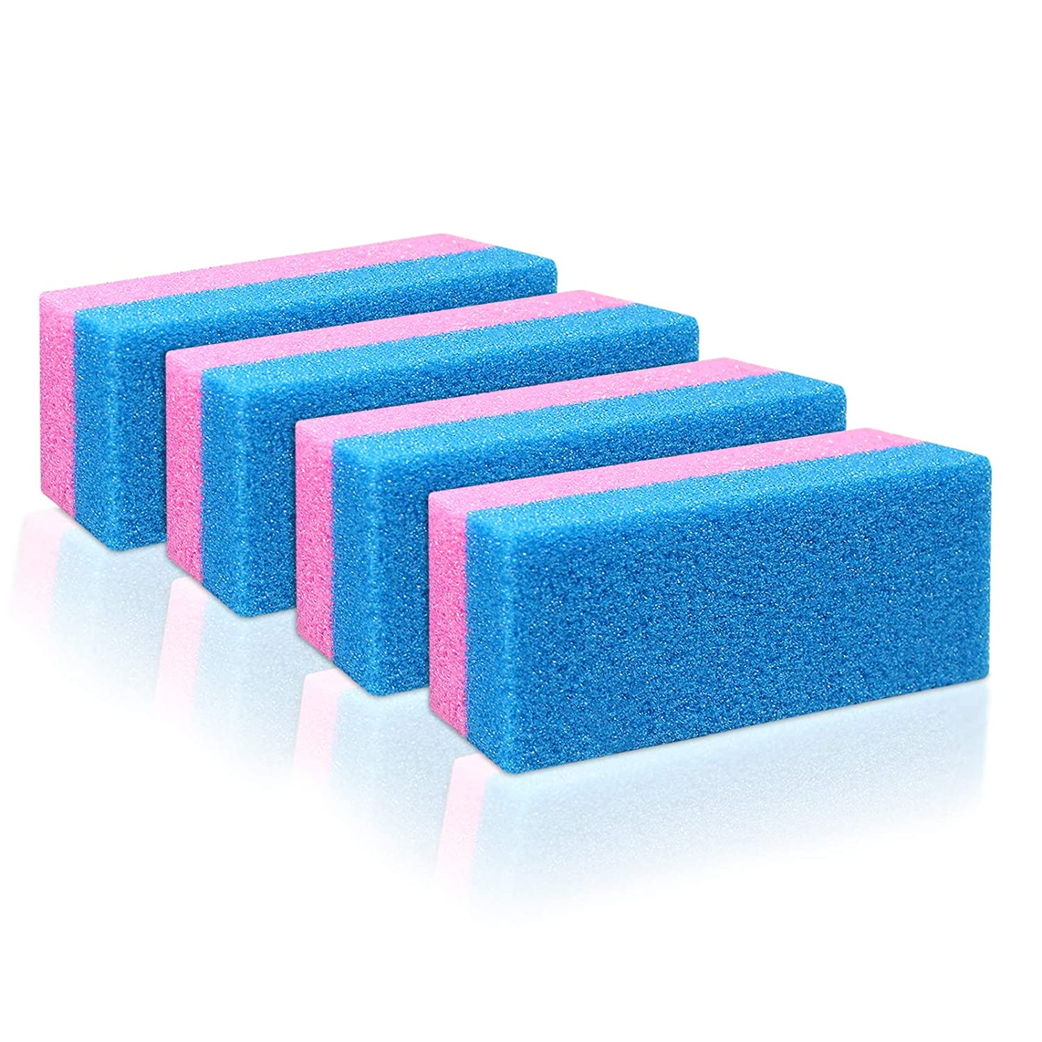 Pumice Bar 4 Pcs Set | Dual Sided Extra Coarse | Exfoliating Foot File | Heel & Feet Scrubber Pumice Sponge | Foot Pad Buffer Callus Remover | Synthetic Pumice Stone for Dry Skin Pedicure |By Anapoliz