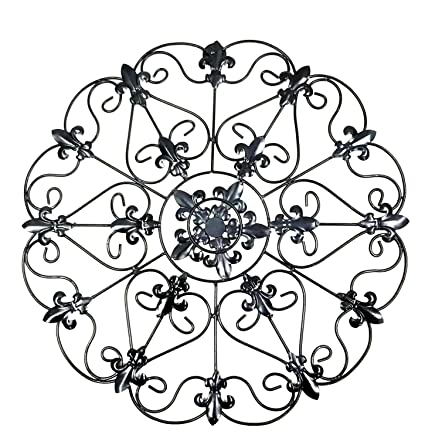 Lovely Iron Wall Medallion   Authentic Wall Decor