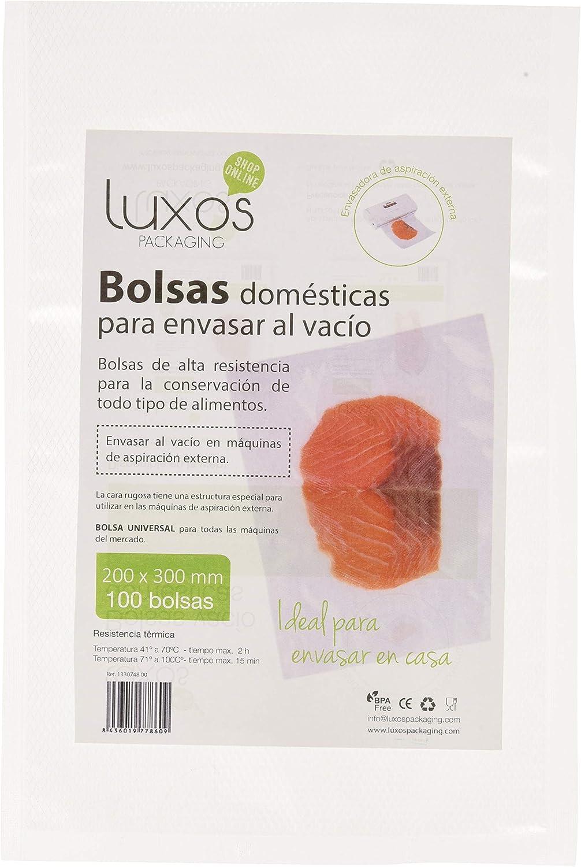 Luxos Packaging - Bolsa vacío doméstica, 20 x 30 cm, 100 unidades: Amazon.es: Salud y cuidado personal