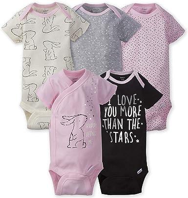 """Pants /& Gowns Bundle 3-9M Gerber Baby Girl 7-Piece Pink Flowers /""""Love/"""" Onesies"""